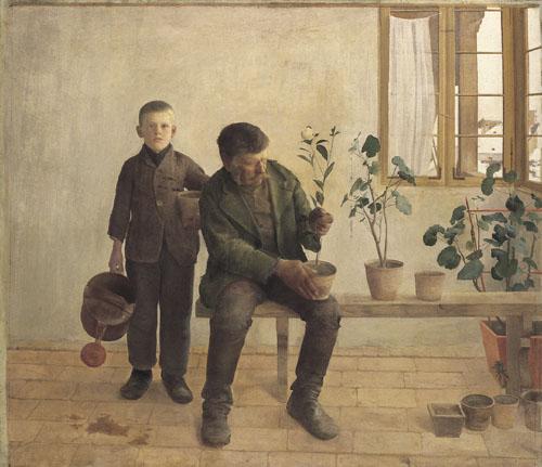"""Károly Ferenczy's """"The Gardeners"""""""