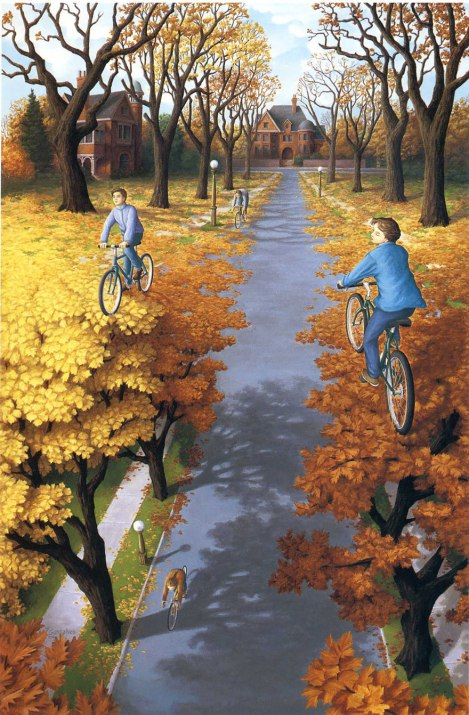 Optical Illusion Art by Canadian Painter Rob Gonsalves
