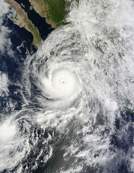The Storm on September 14—Directly Over Los Cabos