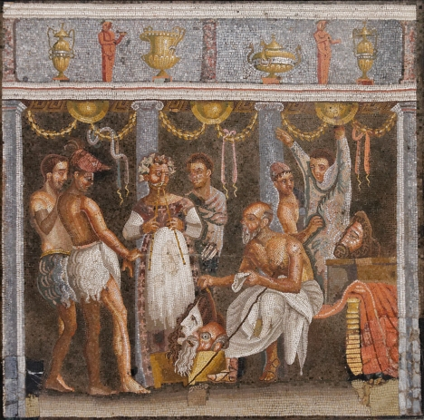 Scene from Ancient Roman Drama