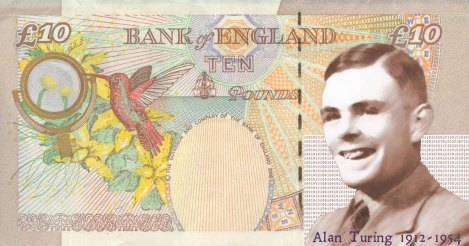 Alan Turing on a £10 Banknote (Rejected!)