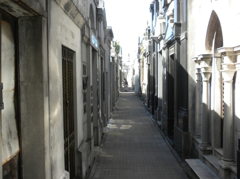 A Lane in Buenos Aires' Recoleta Cemetery
