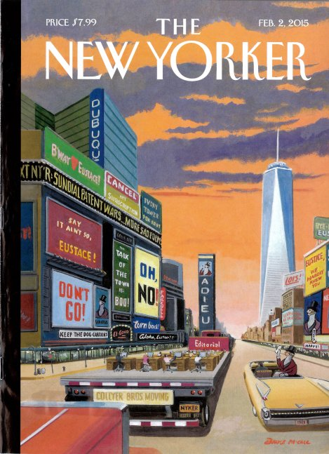 New Yorker Cover Commemorating the Magazine's Move to the World Trade Center