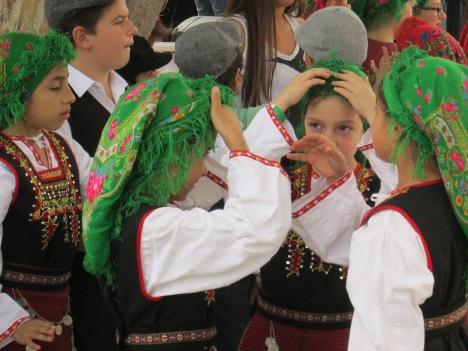 Little Girls in Greek Costumes