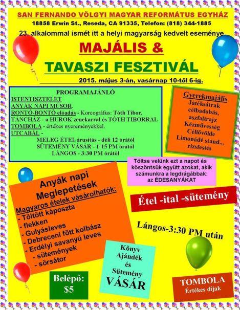 Program (and Menu) for the Fesztivál
