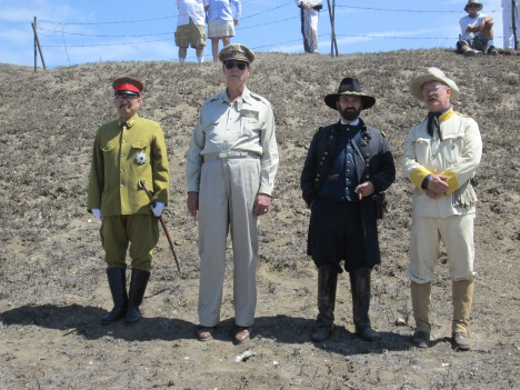 From Left to Right: Hideki Tojo, Douglas MacArthur, Ulysses S Grant, and Teddy Roosevelt