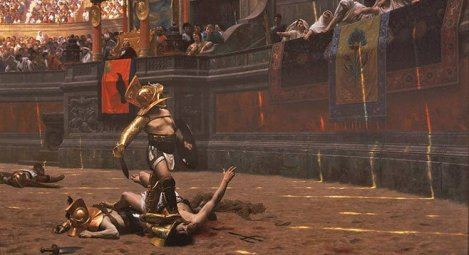Gladiatorial Combat: A Giant Distraction?