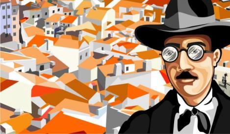 Portuguese Novelist and Poet Fernando Pessoa (1888-1935)