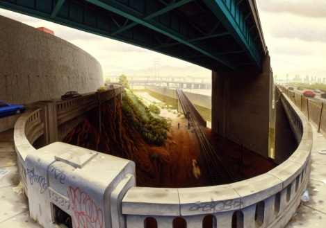 "James Doolin's Painting ""Bridges"""