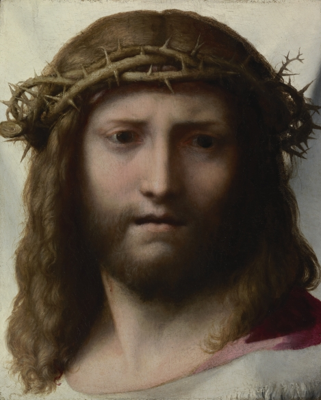 Head of Christ by Antonio Allegri aka Correggio (1489-1534)