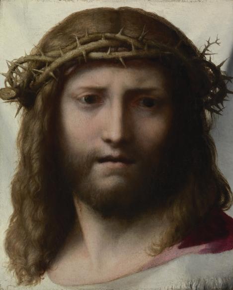 Head of Christ by Antonio Allegri aka Correggio (1489-1534)