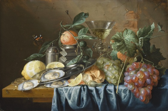 """Jan Davidszoon de Heem's """"Still Life with Oysters and Grapes"""""""