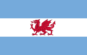 Flag of Argentina with Welsh Dragon