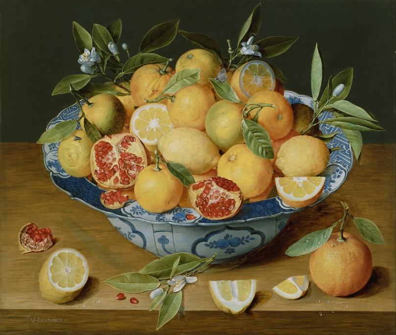 "Jacob van Hulsdonck's ""Still Life with Lemons, Oranges and a Pomegranate"""