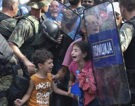 Macedonian Police and Syrian Refugees