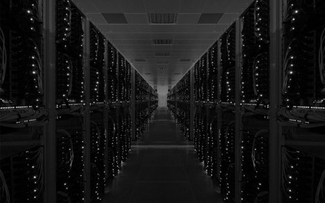 A Server Farm at Night