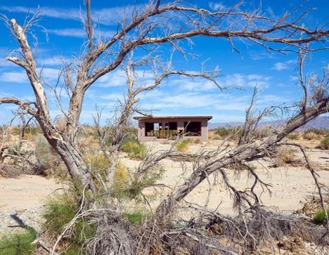 "Deserted ""Jackrabbit Homestead"" in Wonder Valley"