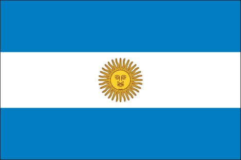 The Official Flag of Argentina