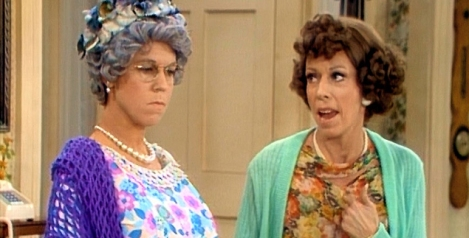 Vicki Lawrence as Thelma Harper and Carol Burnett as Her Daughter Eunice