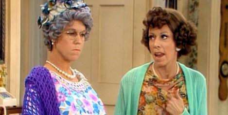 Vicki Lawrence as Thelma Harper and Carol Burnett as Her Daughter Eunice