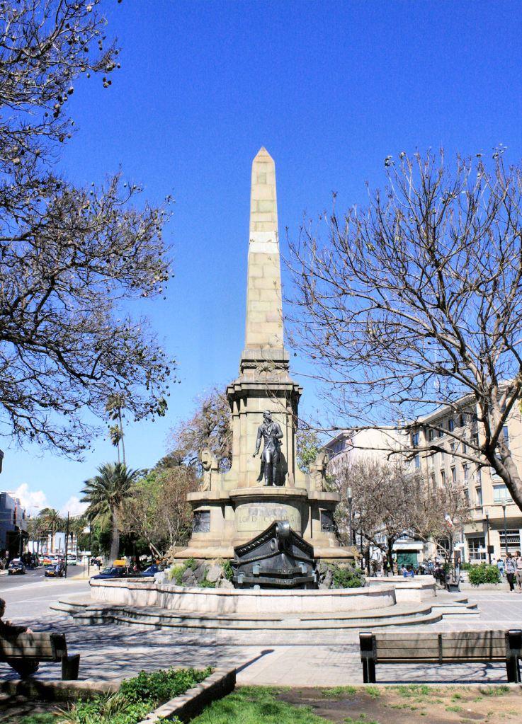 Memorial to Cochrane in Valparaiso, Chile