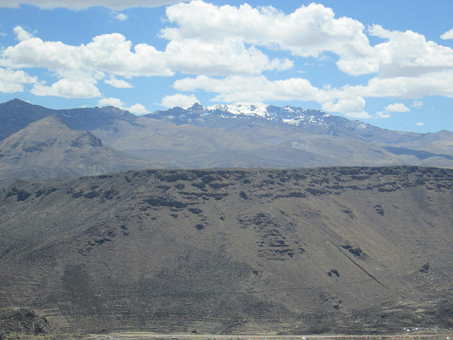 The View Across Colca Canyon Beyond Chivay