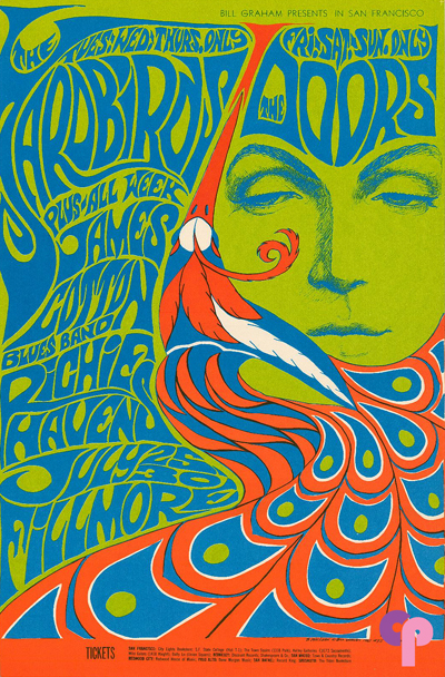 Poster for One of Bill Graham's Presentations at the Fillmore