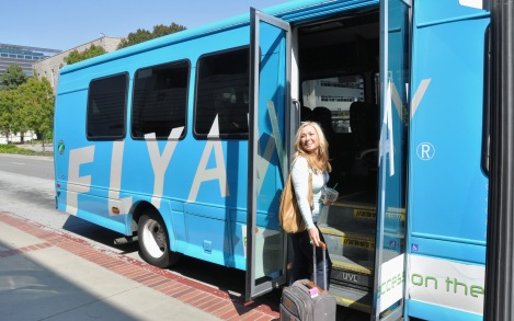 The Flyaway Bus from UCLA to LAX Airport