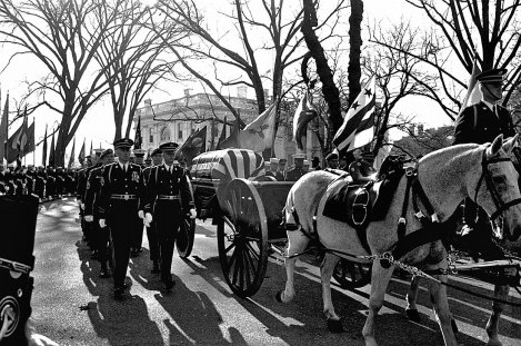 The Caisson Bearing Kennedy's Body Enroute to the Cemetery
