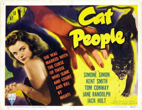 Lobby Card for Val Lewton's The Cat People