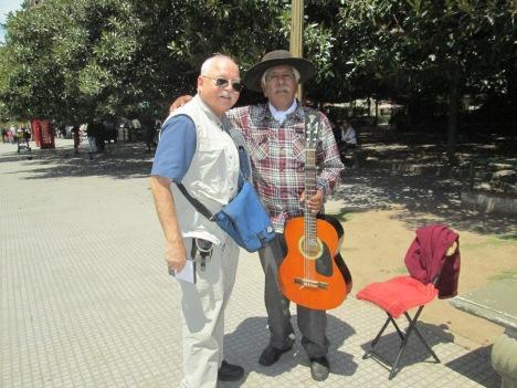 """With Folk Singer Juan Carlos Balvidares, """"El Caminante Argentino"""""""
