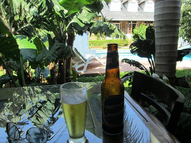 Having a Beer in Puerto Iguazu