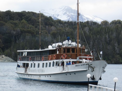 The Modesta Victoria on Lago Nahuel Huapi