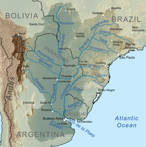 Drainage Basin of the Paraná