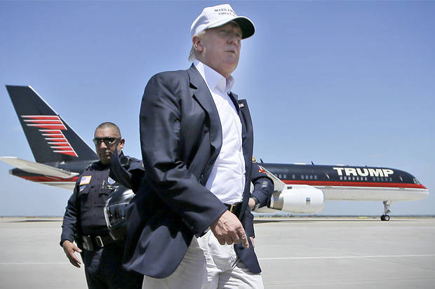 Trump with His Plane
