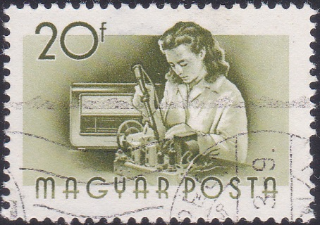20 Fillér Stamp Honoring Hungarian Radio Manufacturing