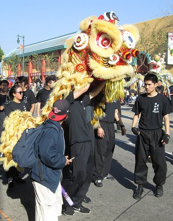 Lion Dancer at Chinese New Year Parade