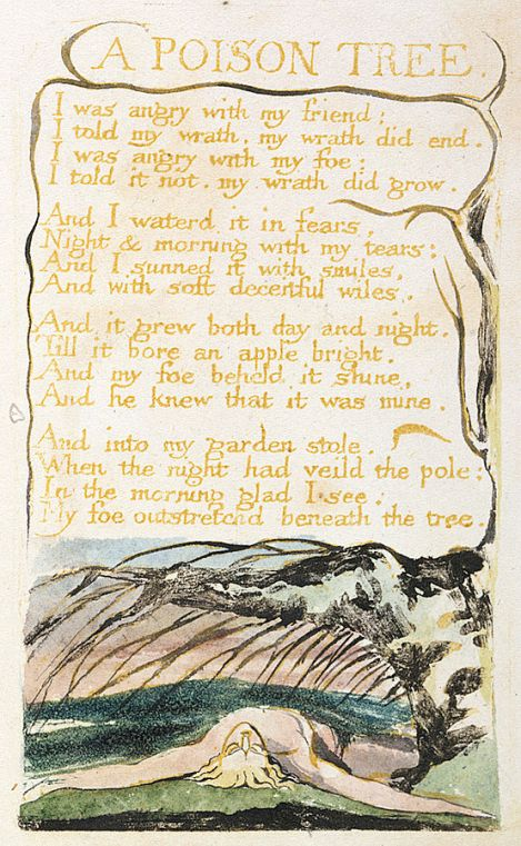 "William Blake's Original Art for ""A Poison Tree"""