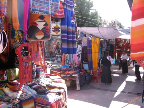 The Crafts Market at Otavalo in Northern Ecuador