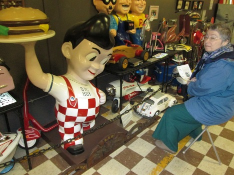 Martine Communing with Bob's Big Boy