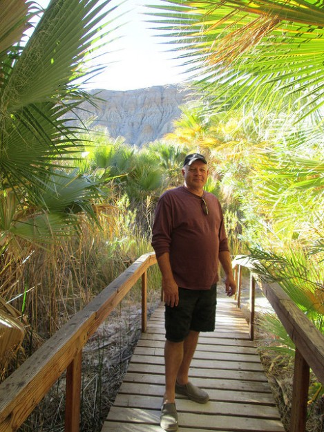 My Brother Dan in the Thousand Palms Oasis