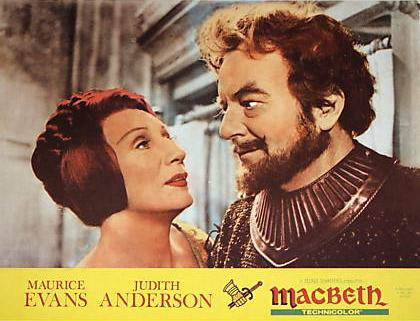 Maurice Evans as MacBeth and Judith Anderson as Lady MacBeth
