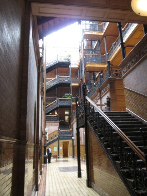 Interior of the Bradbury Building