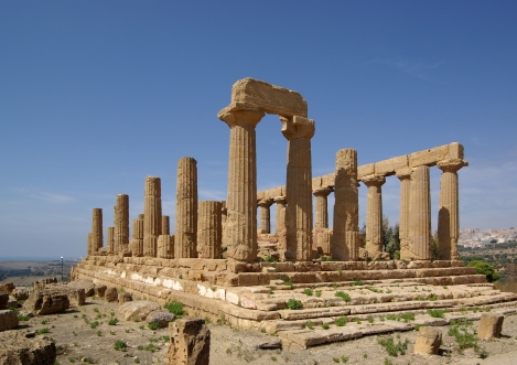 Greek Ruins at Agrigentum in Sicily
