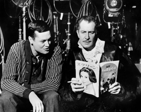 A Young Roger Corman (Left) with Vincent Price