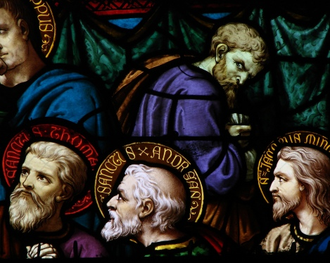 Judas Is Pointedly Depicted Without a Halo at the Cathedral of Moulins