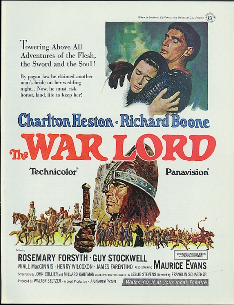 Poster for Universal's The War Lord (1965)