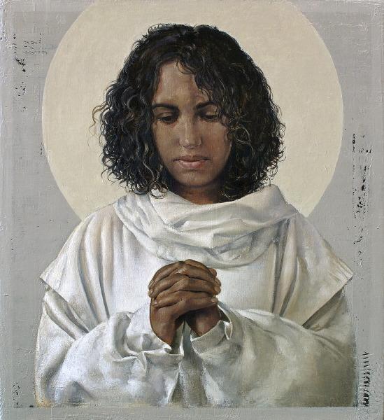 Painting of St. Monica by John Nava