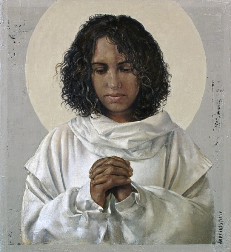 Painting of St. Monica by John Nava