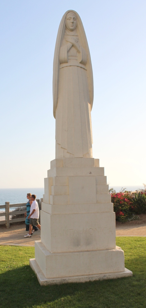 Statue of St. Monica in Santa Monica's Palisades Park